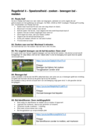 Regelbrief 4 Speelsnelheid, zoeken en bewogen bal